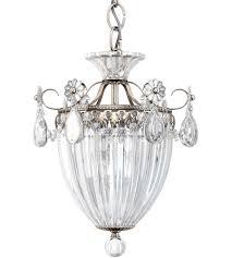 Schonbek 1243-48 Bagatelle <b>3</b> Light 11 inch <b>Antique Silver</b> Pendant ...