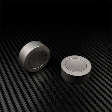 Mini Pocket Round Hand Spinner Brass <b>Titanium</b> Fidget Spinner ...