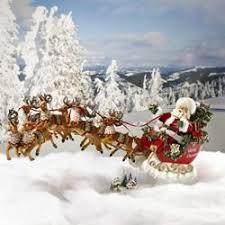 "<b>24</b>"" <b>Santa Claus</b> in Sleigh with Reindeer Musical Table Top ..."