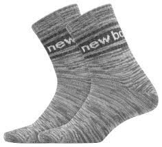 New Balance Socks | <b>Mens Evergreen Short Crew</b> Sock 2 Pair Grey ...