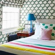 patterned wallpaper blind bedroom design ideas small
