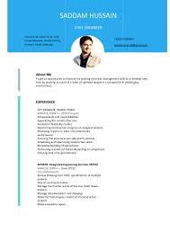 cv civil engineer saddam hussain pdf