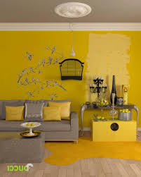 Yellow Living Room Decorating Yellow And Gray Living Room Walls House Decor