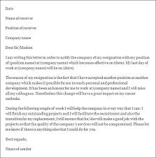 sample resigning letter  seangarrette coformal resignation letter template formal resignation letter template