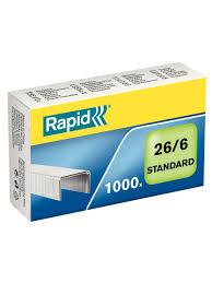 <b>Скобы для степлера</b>, <b>Rapid</b>, 26/6, 1000 шт.