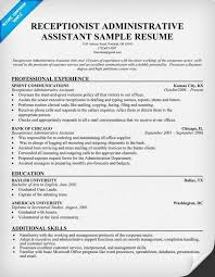 sample resume receptionist administrative assistant sample resume receptionist administrative assistant we provide as reference to receptionist sample resume