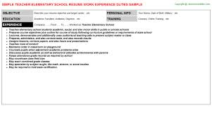 RELATED RESUMES FOR  quot ELEMENTARY SCHOOL LUNCH AIDE quot