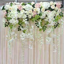 JaneVini Graceful Artificial Silk Wedding <b>Flower Pink Big</b> Bridal ...