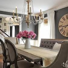room paint black furniture gray i would keep the bench and one of the other chairsdark gray grey dinin