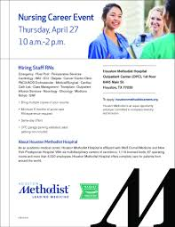 houston methodist linkedin houston methodist hospital is holding a nursing career event on 4 27 at 10 am 2 pm for all nursing specialties minimum 6 months of acute care rn experience