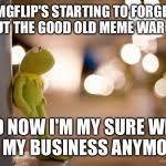 Kermit Reflecting Meme Generator - Imgflip via Relatably.com