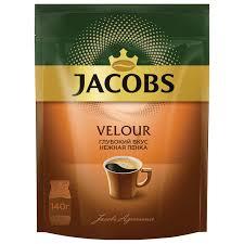"""Купить <b>Кофе растворимый JACOBS """"Velour</b>"""", сублимированный ..."""