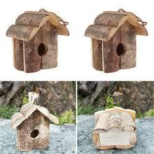 Garden <b>Birds 2 PCS</b> Outdoor Wooden <b>Birds</b> Nest Preservative <b>Bird</b> ...