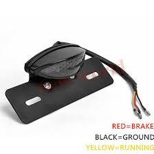 LED <b>License Plate Mount Holder Bracket</b> with Brake Tail Light For ...
