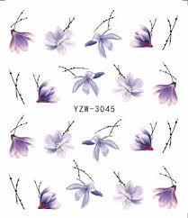 1 PC <b>2019 New</b> Styles Nail Sticker Water Decals Plum / <b>Flower</b> /Pig ...