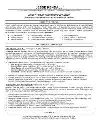 healthcare executive resume samples sample executive resume format jesse kendall sample executive resume format