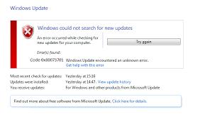 0x80073701-windows update error-windows 10/8/7 - Microsoft Live ...