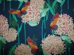 <b>Handmade</b> cotton sheet/pillowcase/Blue <b>Dreamer</b>/Hygragea/Butterfly