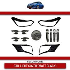 VIOS 2014-2017 Garnish Cover Combo <b>Set</b>(<b>Matt black</b>) | Shopee ...