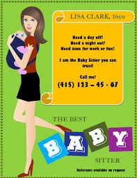 Free Babysitting flyer templates and ideas: make your own! Mother-time-off-baby-sitting-flyer