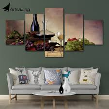 Wall Art Poster <b>Modular Canvas HD</b> Prints Paintings 5 Pieces White ...