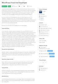 job board manager wordpress plugins single job page