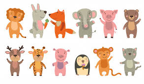 Free Vector | Happy funny <b>cartoon animals</b> set