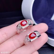 <b>KJJEAXCMY fine jewelry</b> natural Ruby 925 sterling silver new men ...