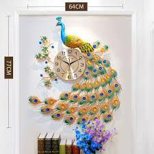 Peacock wall <b>decor</b>, Clock wall <b>decor</b>, Clock