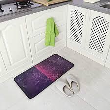 ALINLO Kitchen <b>Floor Mat Abstract</b> Prisma <b>3D</b> Geometric Triangle ...