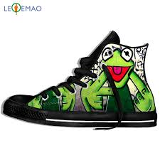 Custom Logo Image <b>Printing</b> Sneakers Shoes Funny <b>Pepe The Frog</b> ...