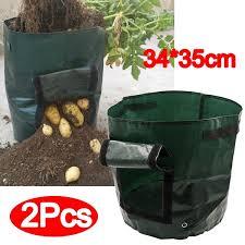 <b>2Pcs</b> Pack <b>Plant Growing</b> Bags Potato <b>Plant Container</b> Flowers ...