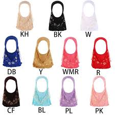 Hot <b>New 1 Pc Children Kids</b> Muslim Small Girl Hijab With Lace ...