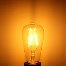 <b>dimmable vintage retro</b> e27 st58 <b>4w led</b> cob warm white filament ...