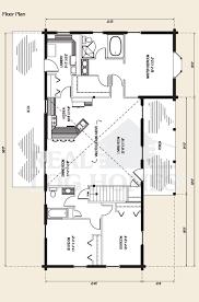 The Townsend Log Home Floor Plan   Bedroom Log Home Plan   Ranch    The Townsend Log Home Floor Plan
