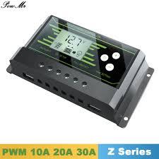 <b>Y SOLAR Solar Controller PWM</b> 24V/12V Auto 30A 20A 10A Back ...