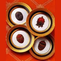 <b>Набор</b> Faberge из 4-х <b>десертных тарелок</b> Cobalt <b>Blue</b> 6500-024BL