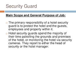 hotel security   main duties of security guard