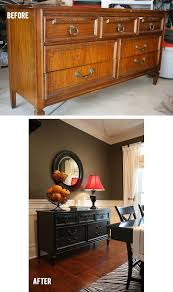 beautiful antique buffet table gets a facelift and painted black charming pernk dining room