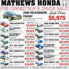 matthews kennedy honda acura in marion oh auto mathews hondapre owned suv truck 2006 volkswagen safepassat 5 975turbo 4 cyl