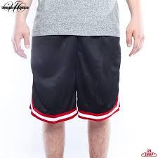 <b>Шорты URBAN CLASSICS Stripes</b> Mesh Shorts Black-Red-White ...