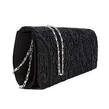 Designer Floral <b>Lace Satin Ladies</b> Clutch Bag <b>Womens</b> Handbag ...