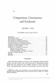 competition coexistence and evolution springer inside