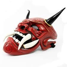 Japanese <b>Samurai</b> Assassin Hannaya Warrior Halloween Mask ...