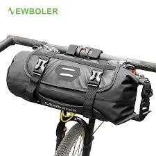 NEWBOLER <b>Bicycle Front</b> Tube <b>Bag</b> Waterproof <b>Bike Handlebar</b> ...