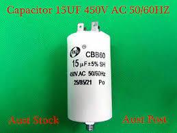 <b>CBB60 450V</b> AC Appliance Motor Run Capacitor <b>15uF</b> 4 Pins 50/60Hz