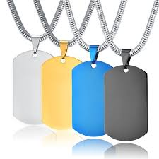 2019 <b>HOT</b> Identity Card Stainless <b>Steel</b> Sling Men <b>Titanium Steel</b> ...