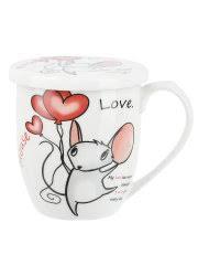 "<b>Кружка</b> с крышкой ""Mouse love"", <b>360мл</b> Nouvelle 8978794 в ..."