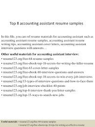 top8accountingassistantresumesamples 150424015911 conversion gate02 thumbnail 4 jpg cb 1429858799