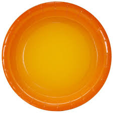 Тарелки (7''/18 см) <b>Оранжевый</b>, <b>Градиент</b>, 6 шт. в Москве. Купить ...